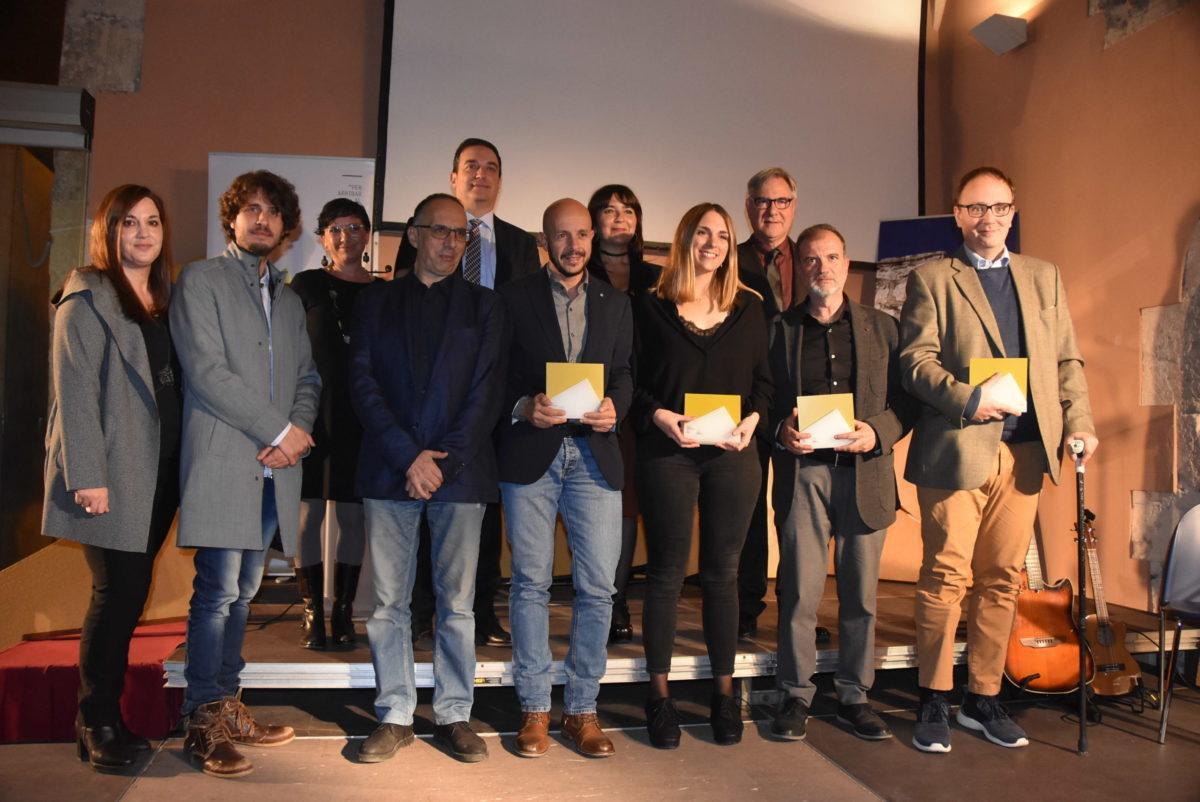 Fotografia de família dels premiats del Mañé i Flaquer
