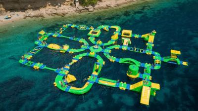#innocentada: La platja de Baix a Mar comptarà aquest estiu amb un enorme parc aquàtic