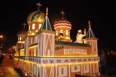La Rússia de la Colla Disbauxa guanya el reconeixement a la Millor Carrossa del Carnaval de Torredembarra