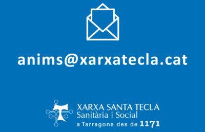 Ja pots enviar missatges de suport a pacients i professionals de la Xarxa de Santa Tecla