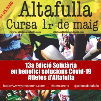 Atletes d'Altafulla impulsa el repte solidari 'Cursa 1r Maig Indoor'