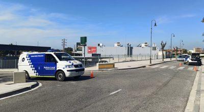 Dispositiu policial especial pel pont del Primer de maig a Roda de Berà