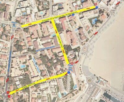 Canvis de circulació a partir del 25 de maig en l'avinguda Montserrat i dos carrers dels Munts