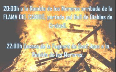 Creixell celebrarà la Revetlla de Sant Joan malgrat la Covid-19