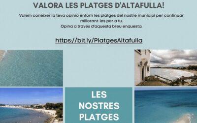 Un estudi busca conèixer quin ús fan els banyistes de la platja d'Altafulla i com valoren la seva gestió