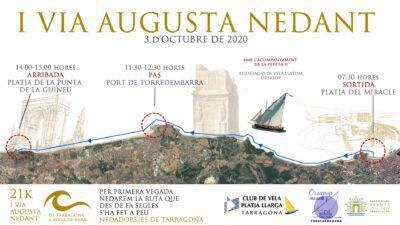 Vuit nedadors recorreran aquest dissabte 21 quilòmetres entre Tarragona i Roda de Berà
