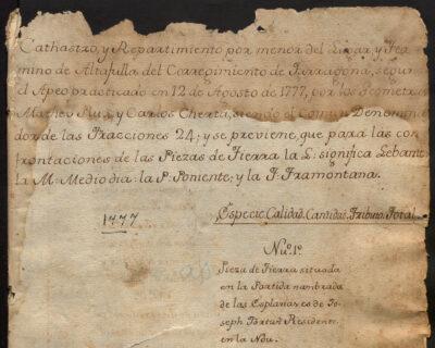 S'inicia la digitalització de l'Arxiu Municipal d'Altafulla amb els primers dos documents