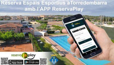 La reserva de carrers de la piscina municipal de Torredembarra es podrà fer a través de l'aplicació de mòbil Reservaplay