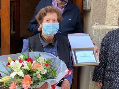 Teresa Mañé, la nova àvia centenària del Catllar