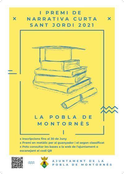Convocat el I Premi de Narrativa Curta Sant Jordi a la Pobla de Montornès