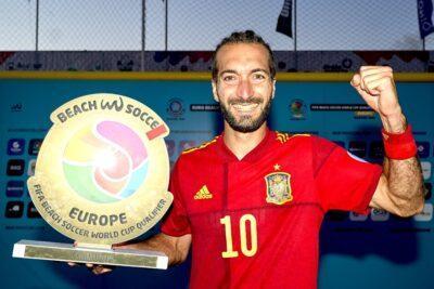 La selecció espanyola de futbol platja, amb tres torrencs a les seves files, campiona del Classificatori Europeu