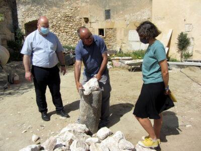 Finalitzen els treballs de restauració del mur de l'antic cementiri d'Altafulla