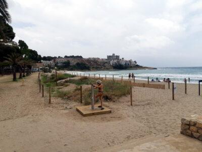 Tret d'inici a la temporada de platja a Altafulla després de diverses actuacions aquest hivern