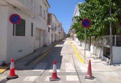 El carrer Pescadors d'Altafulla es queda sense places d'aparcament