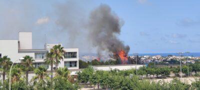 Estabilitzat l'incendi que s'ha produït a prop de l'Institut Torredembarra