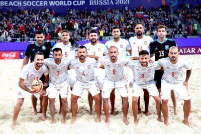 La selecció espanyola de futbol platja tanca la Copa del Món caient a quarts de final
