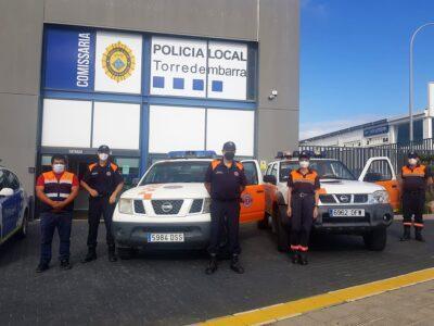 Un equip de Protecció Civil de Torredembarra es desplaça a Alcanar per a treballar en l'emergència